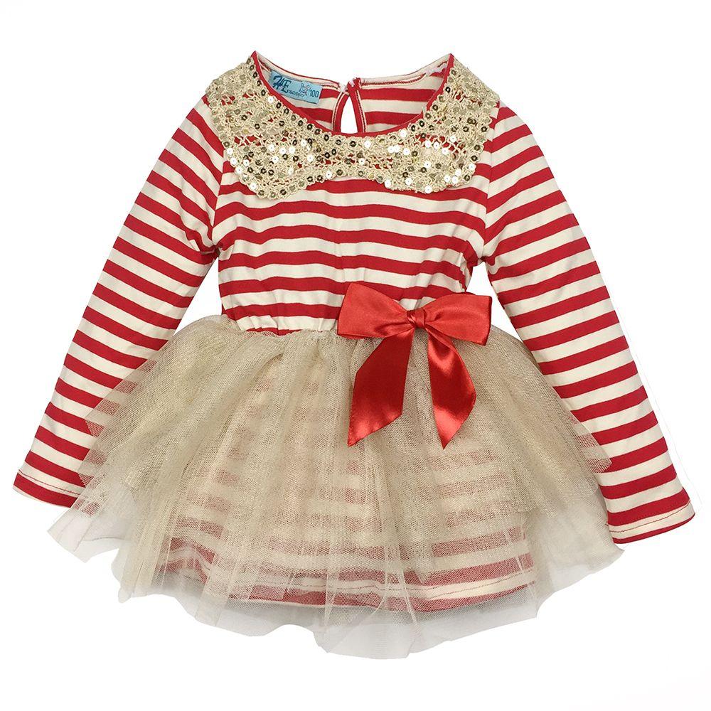 1 4t Girl Dress 2016 Autumn Winter Fashion Kids Dress Striped Long Sleeved Princess Dress Wedding Dress For Party Ki Girl Outfits Kids Dress Kids Outfits Girls [ 1000 x 1000 Pixel ]