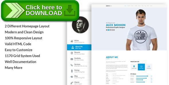Free nulled GentleMan- vCard \ CV Resume WordPress Theme download - online resume download