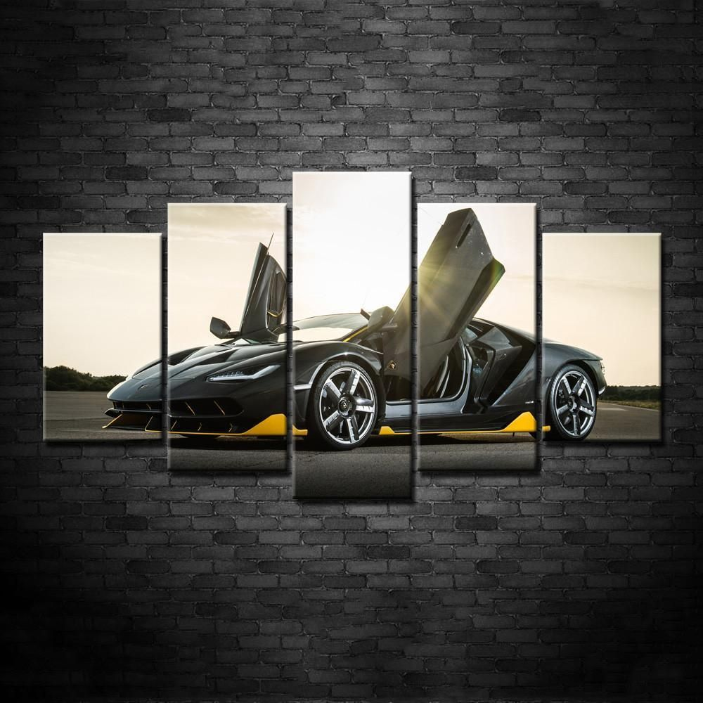 The Incredible Lamborghini Aventador Framed Canvas Wall Art Canvas Frame Wall Art Painting