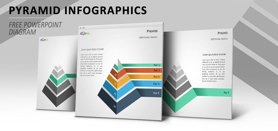Pyramid infographics powerpoint diagram charts diagrams for free pyramid powerpoint diagram for infographic illustrations ccuart Gallery