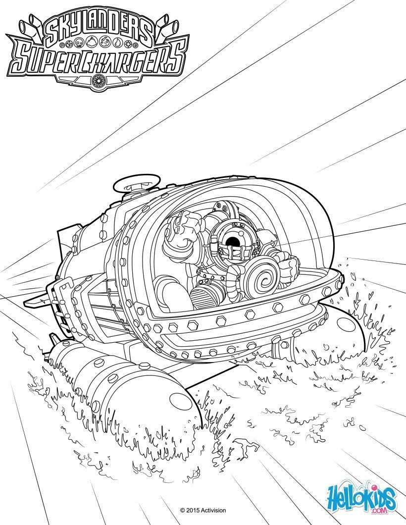 Dive Bomber coloring page from skylanders video games