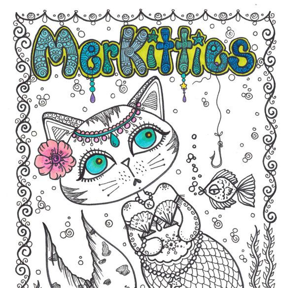 Coloring book merkitties a unique coloring book by chubbymermaid