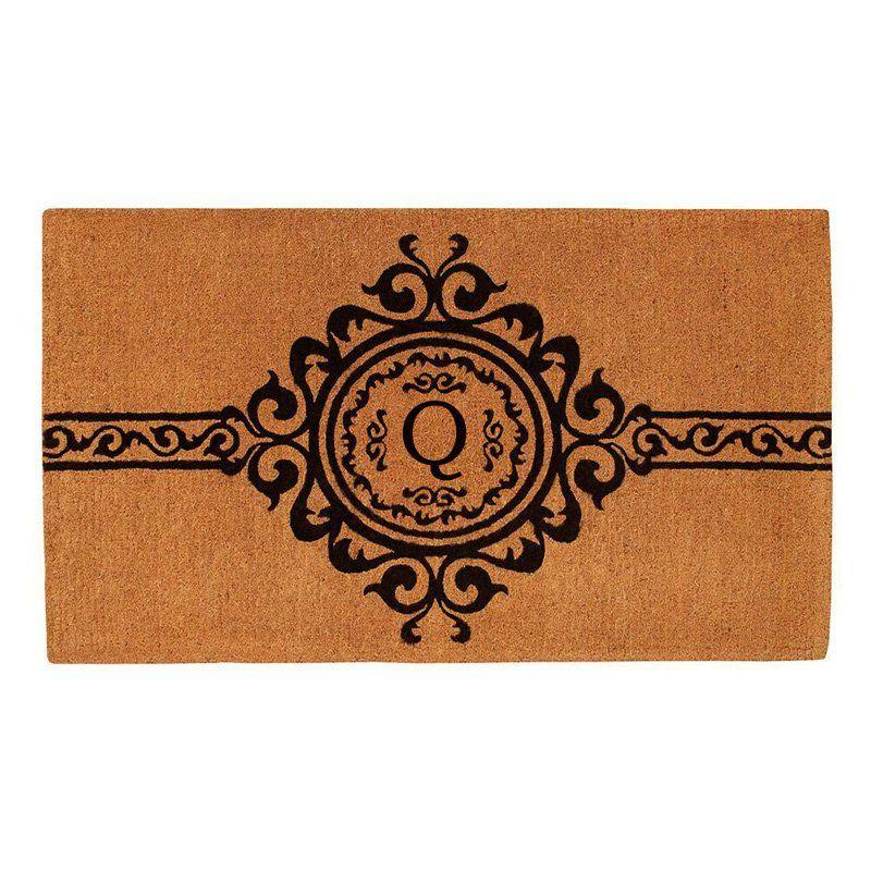 Home & More Majesty Handwoven Monogram Indoor/Outdoor Doormat - 180073672Q