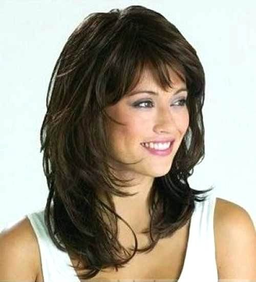 Image Result For Medium Length Hairstyles With Bangs For Women Over 50 Layered Hair With Bangs Medium Hair Styles Medium Length Hair Styles