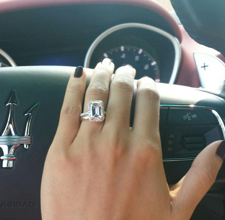 3 carat emerald cut on size 4 finger update wedding funwedding bandswedding - Size 4 Wedding Rings