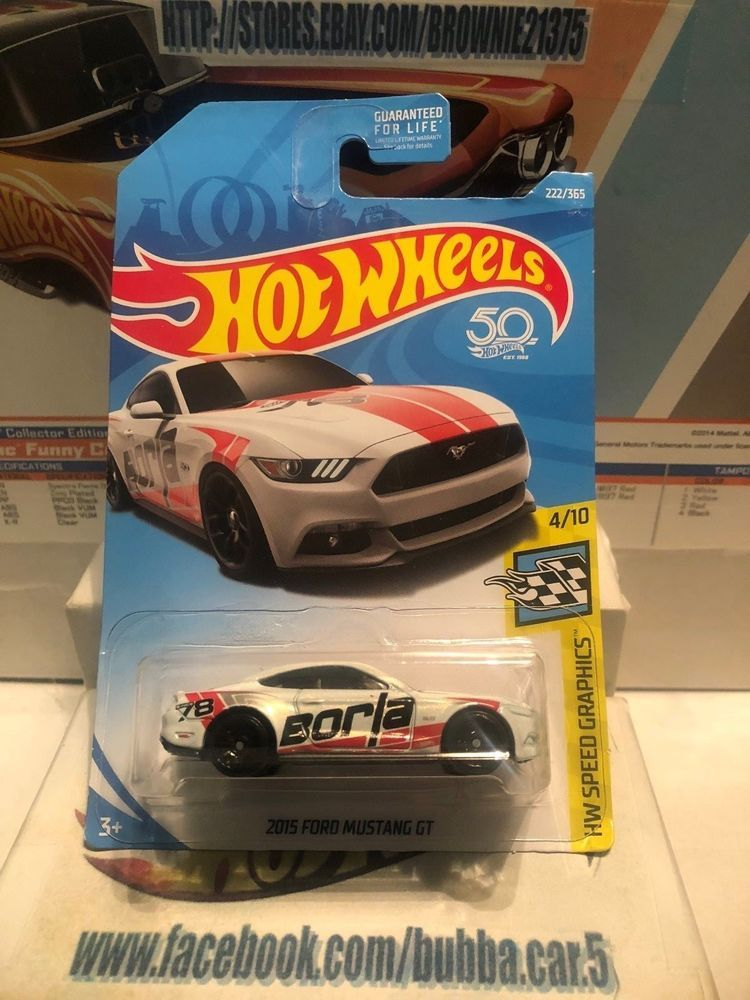 Hot Wheels  Ford Mustang Gt White Hw Speed Graphics Hotwheels Ford