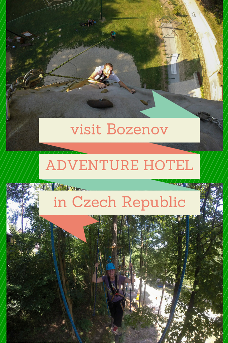 Adventure and pampering in the same place? Visit Bozenov, an adventure hotel in the Czech Republic!