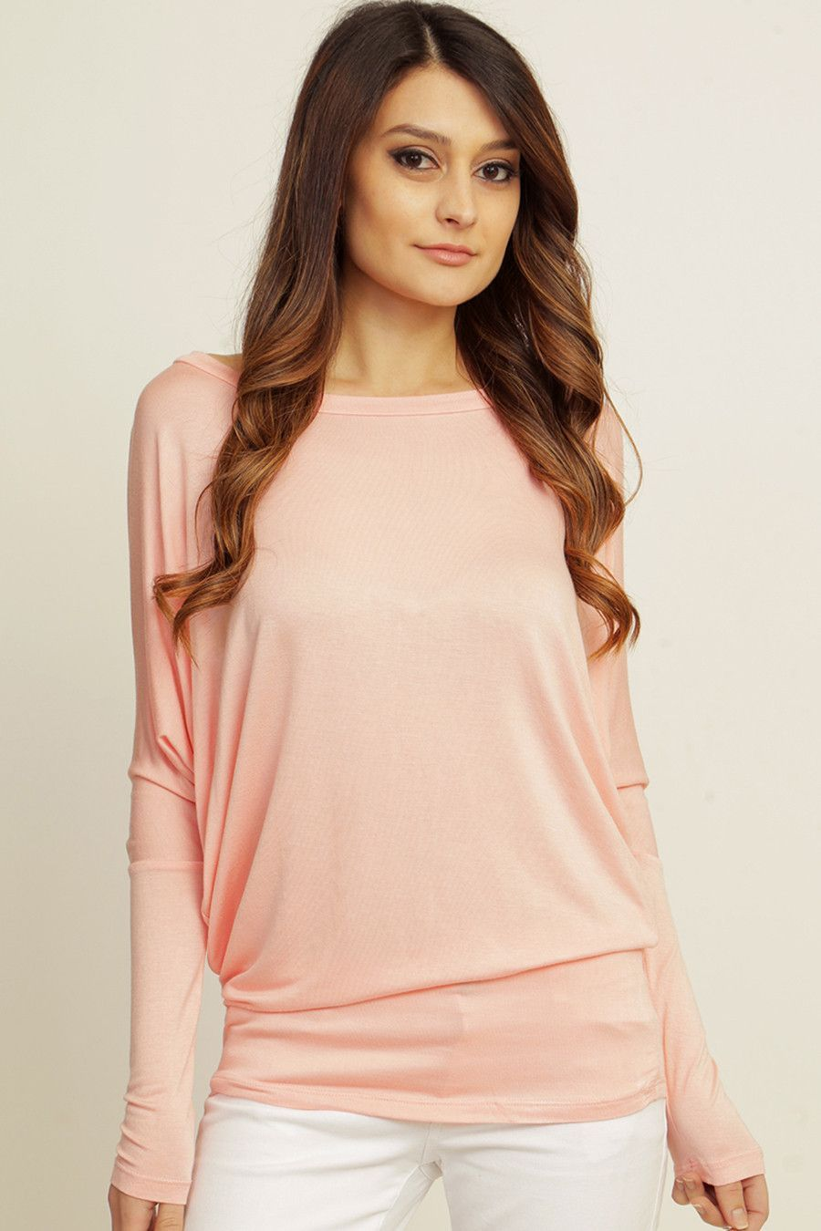 Women's Solid Dolman Sleeve Top Several Colors To Choose From