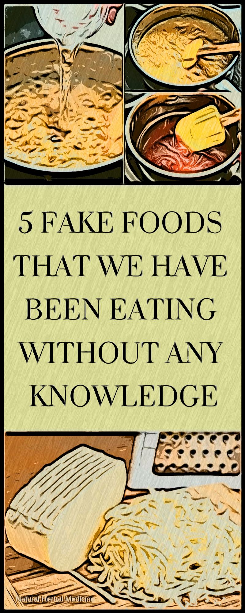 5 fake foods that we have been eating without any
