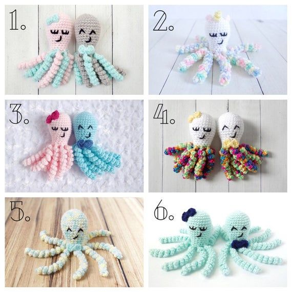 Crochet Octopus, NICU Octopus, Stuffed Octopus, Preemie Octopus, Crocheted Octopus, NICU Toy, Baby G #crochetoctopus
