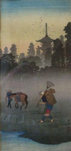 Unusual Japanese Woodblock Print by Takahashi Shotei   eBay