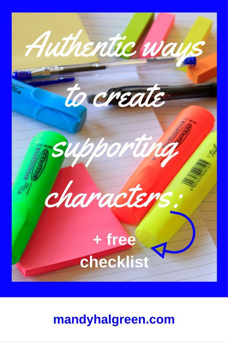 Creating authentic supporting characters for your novel can sometimes be a challenge but not anymore! View this post for more! /mandyhalgreen/