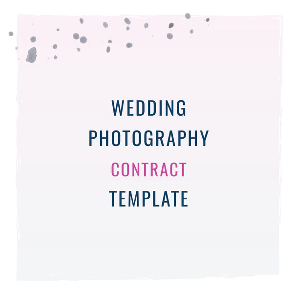 Wedding Photography Contract Template  Wedding Photography