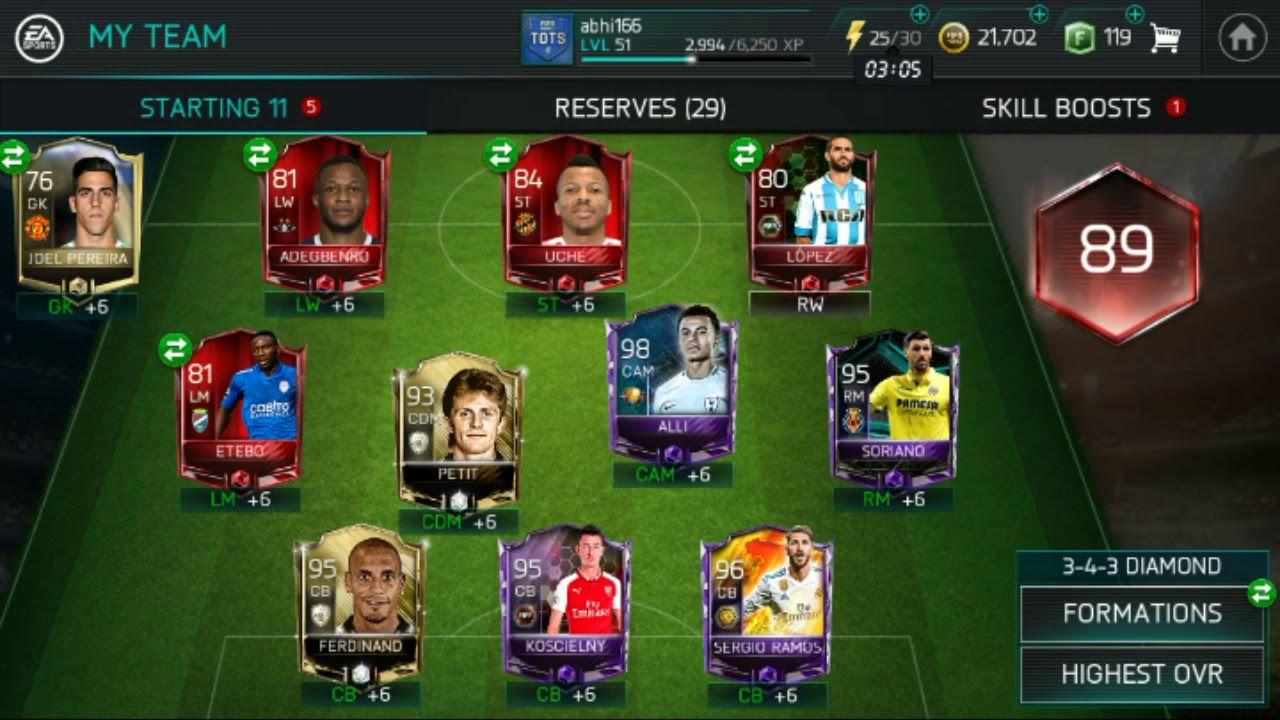 Fifa Mobile Squad Build Up Fifa Card Fifa Ronaldo Videos