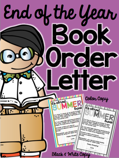 A Trendy Teacher Book Order Letter  An End Of The Year Freebie