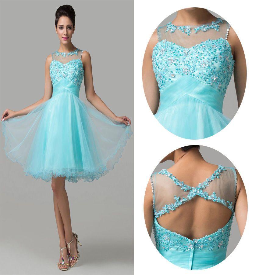 Luxury Beaded Short Bridesmaid Dress Formal Graduation Party Proms ...