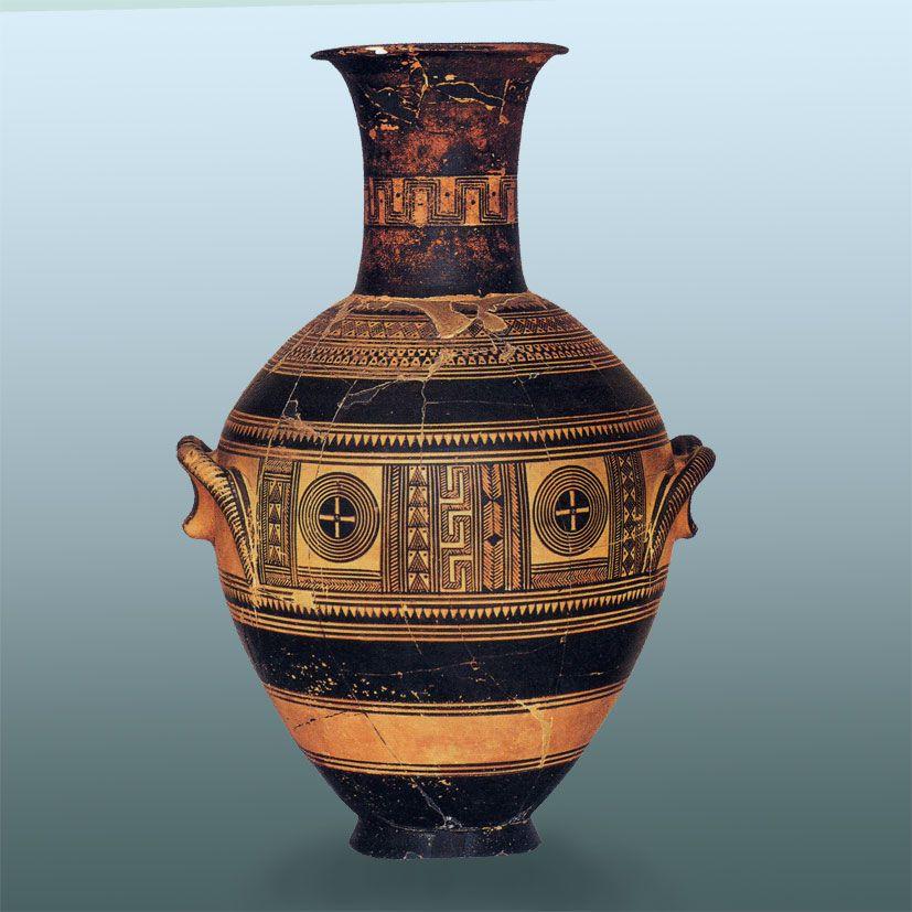 Anfora geometrica periodo di formazione 800 a c circa for Vasi antica grecia