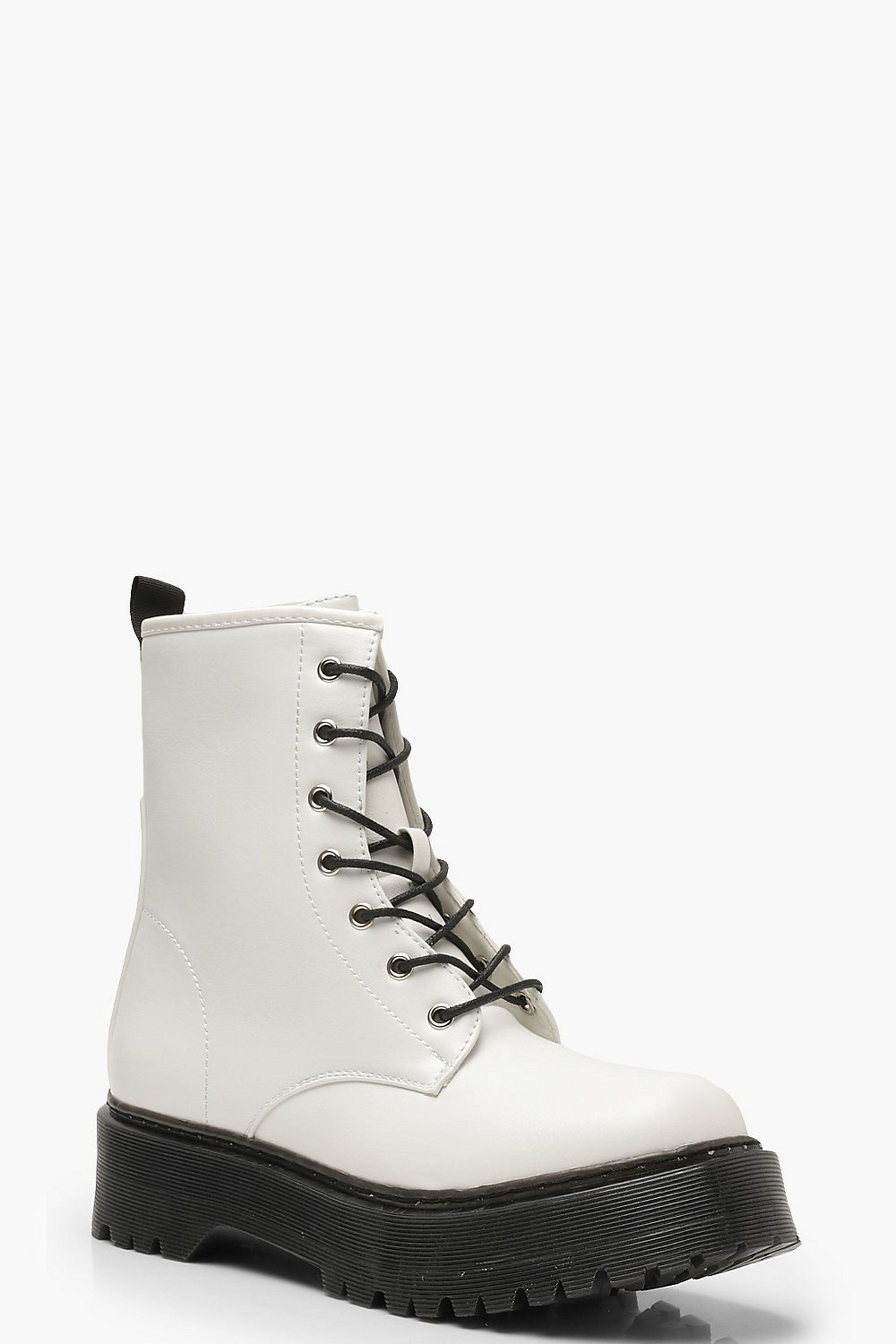 Chunky Lace Up Hiker Boots | Boohoo