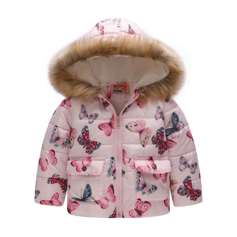51eb62cc093c Children Coat Baby Girls winter Coats long sleeve coat girl s warm Baby  cotton down jacket Winter Outerwear cartoon fleece