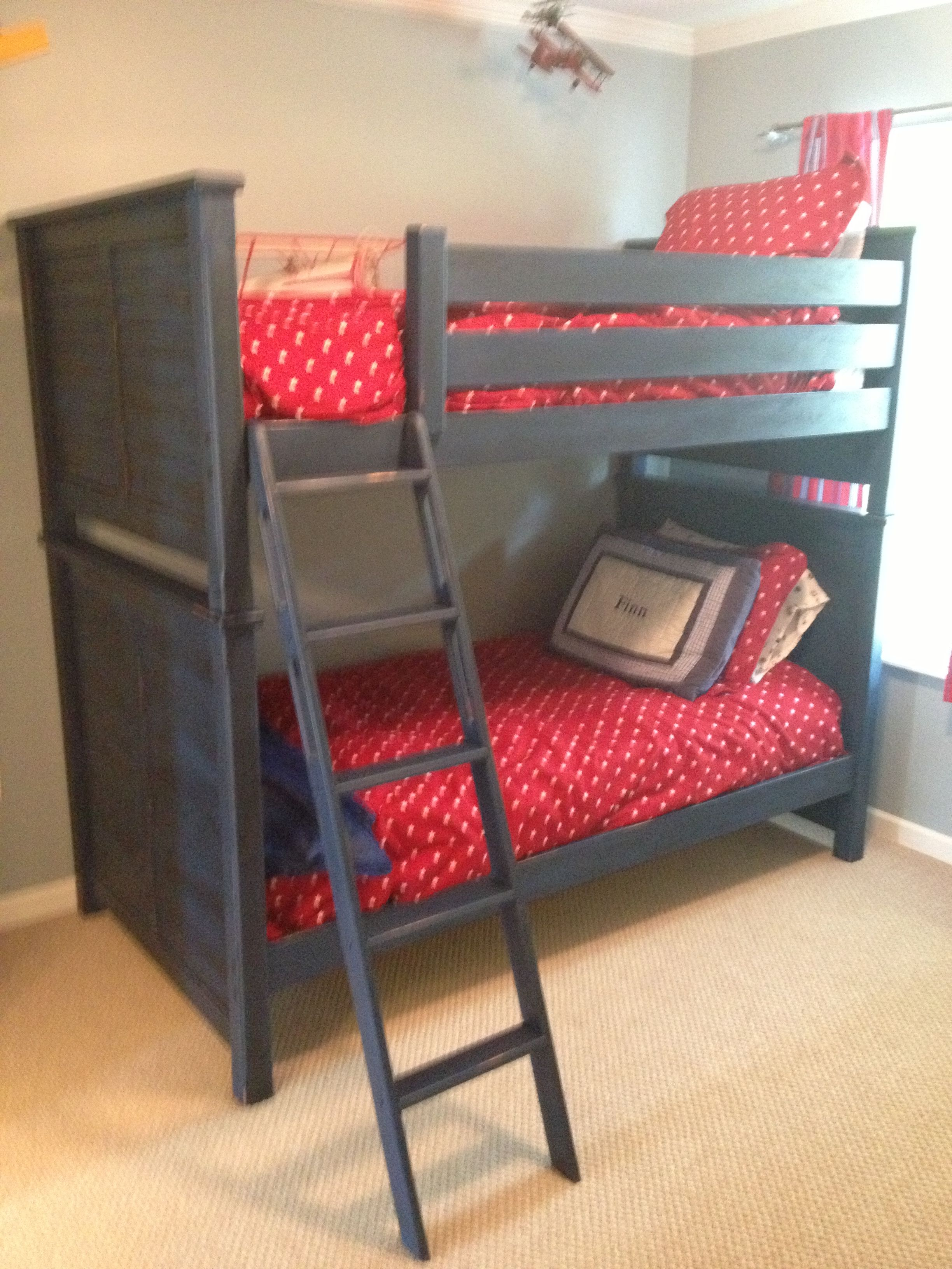 Blue Bunk Beds Annie Sloan Chalk Paint And Dark Stain Can T
