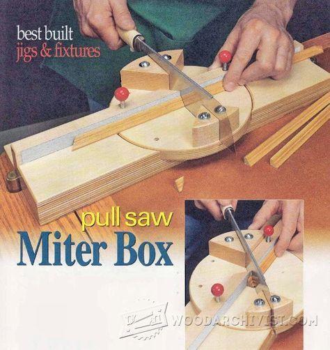 DIY Pull Saw Miter Box - Hand Tools Tips and Techniques   WoodArchivist.com