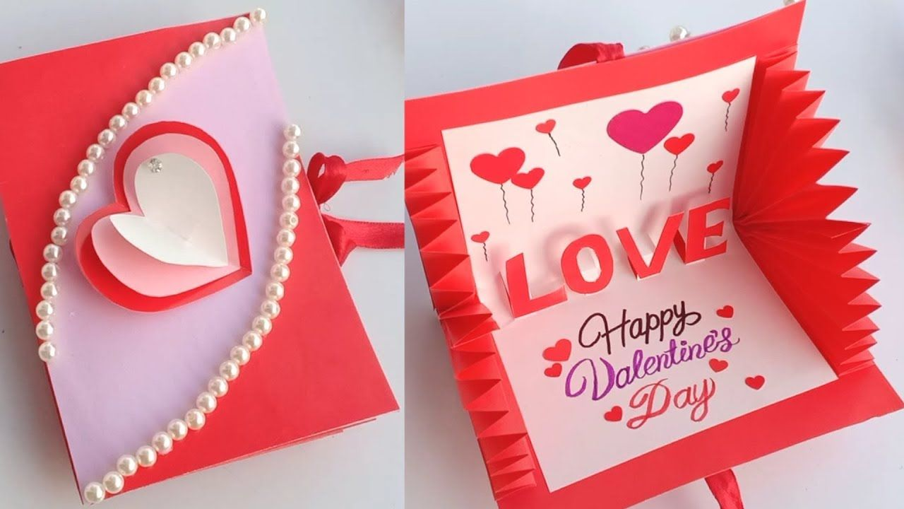 how to make valentine's day card  handmade easy card