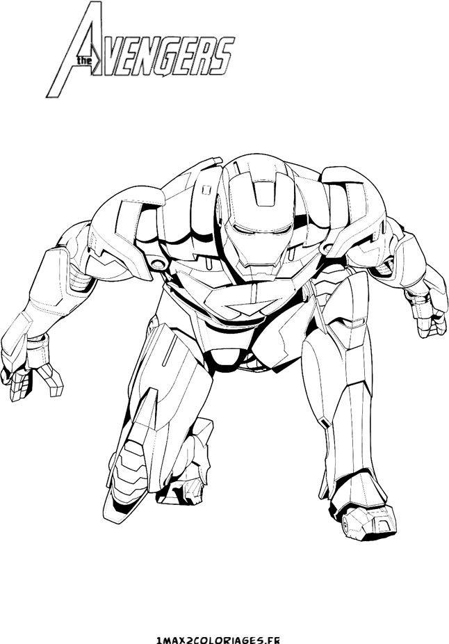Coloriage Iron Man Avengers Dessin Coloriage Coloriage