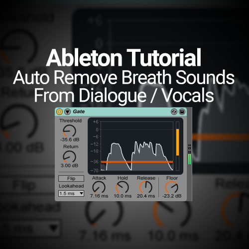 This tutorial shows how to use native Ableton Live effects to automatically remove breathing sounds in dialogue or vocal takes. I was making a video tutorial for ask.audio the other day and when I began editing the video I noticed me inhaling in between some sentences. Once I noticed one; I noticed them all. I …