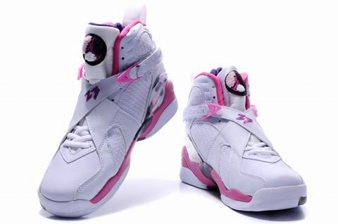 1d6a021ad1a Pink and Black white air | Women's Air Jordan 8 Embroidery - White / Pink /  Black [jordans31183 .