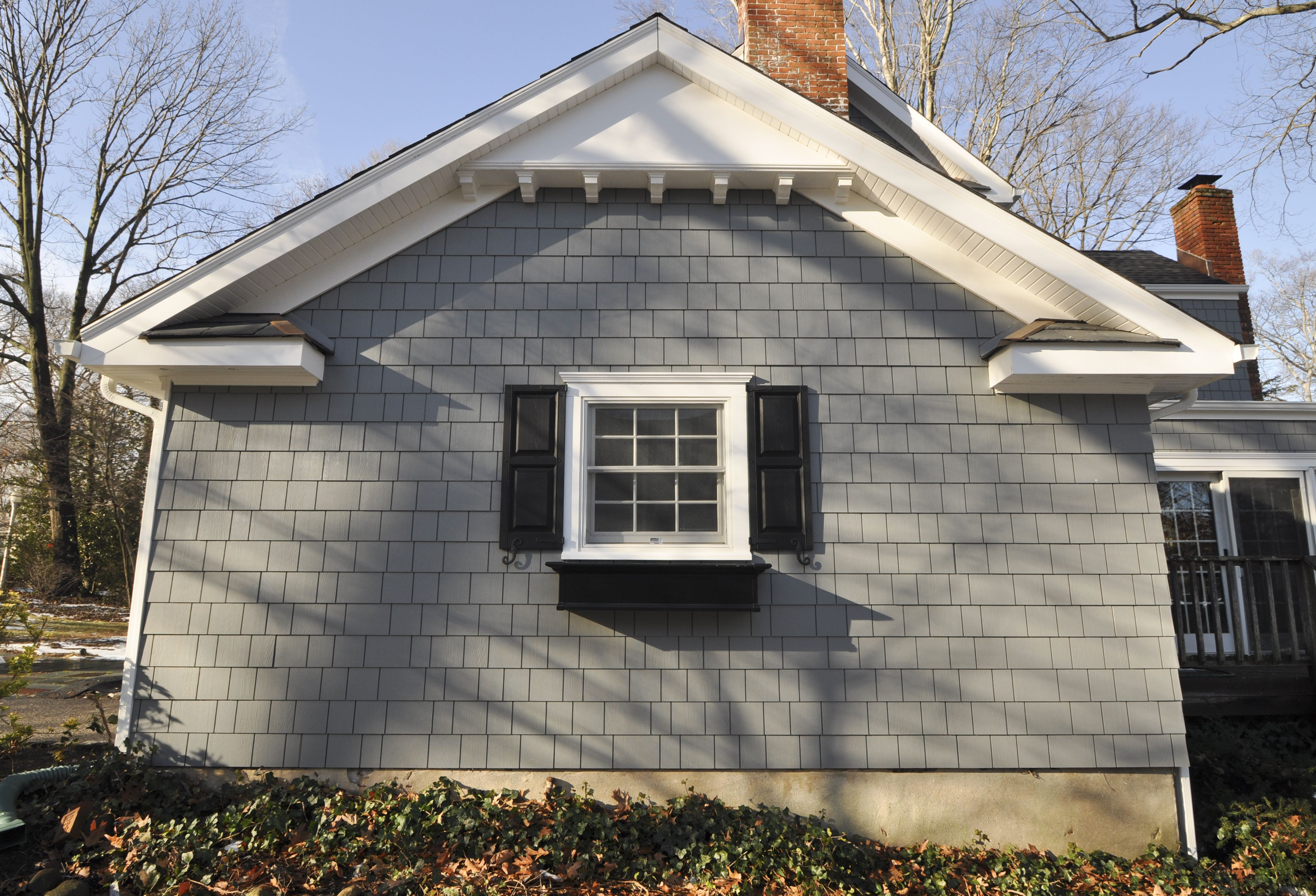 James Hardie Siding With Azek Soffit Details Andersen Windows Black And Copper Accents Dental Block Deta Installing Exterior Door House Siding Hardie Siding