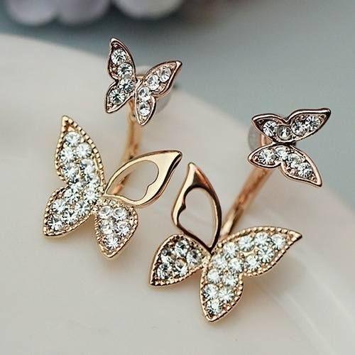 a80c4fc8c4c7 Set Butterfly Stud Earrings Lady