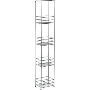 buy wire 4 tier storage caddy chrome at argos co uk your online rh pinterest com Wire Wall Shelves Bathroom Wire Wall Shelves Bathroom
