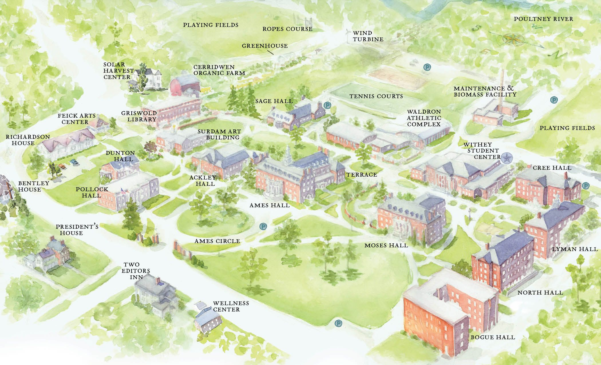 Green Mountain College Map | Campus History | Pinterest | Green ...