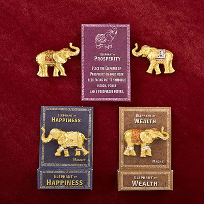 Lucky Elephant Key Magnets 12621-FC
