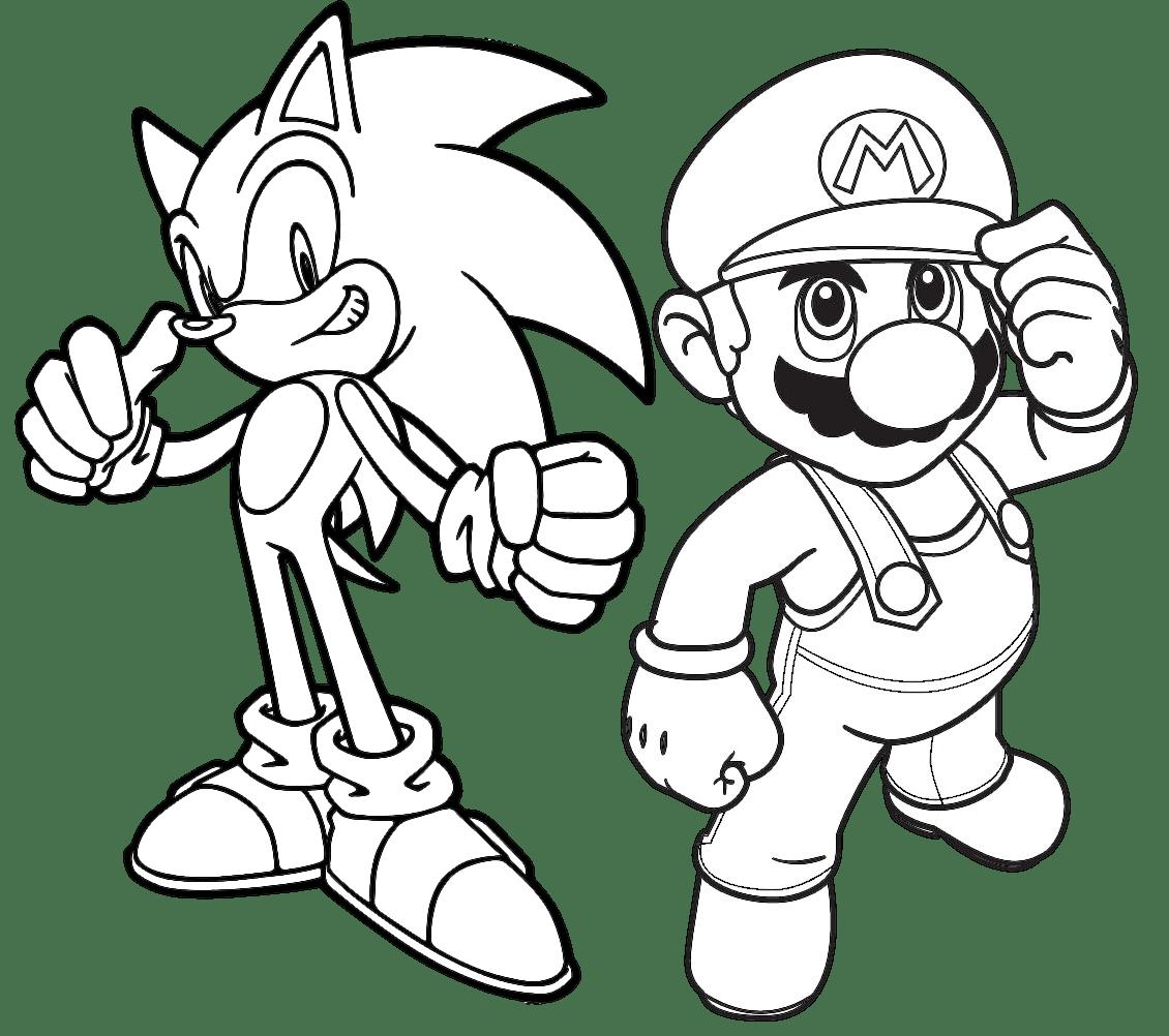 Jogo Pinte Mario E Sonic No Jogos 360 Fotos Do Sonic Colorir Fotos