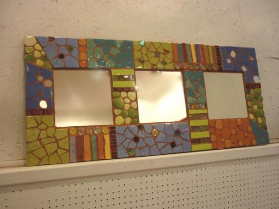 espejo de mosaico espejo material cerámico mosaico   Mosaicos ...