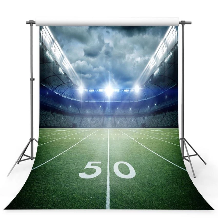 Football Field Stadium Green Lawn Lights Photography Backdrop G 382 Photography Backdrop Backdrops Lawn Lights