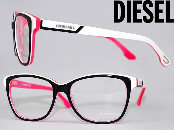 glasses frame diesel black x white x fluorescent pink diesel eyeglasses glasses dl 5013 05 a brandedmens ladies man sex for woman sex for and degrees