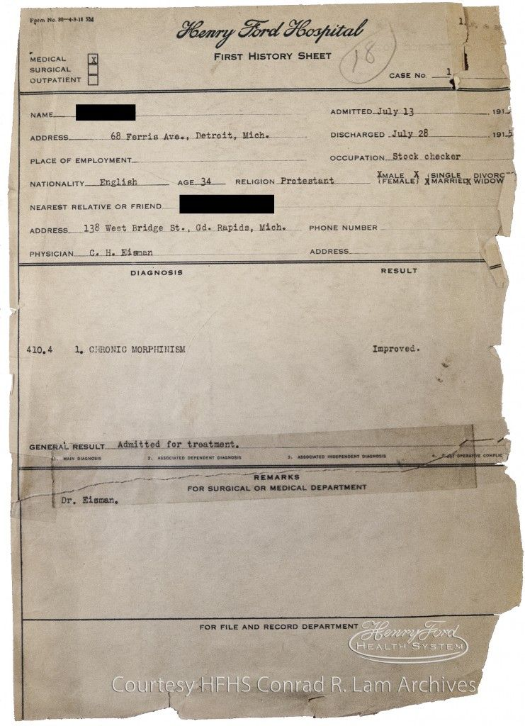 Check Out This History Sheet Of One Of The First Patients Admitted