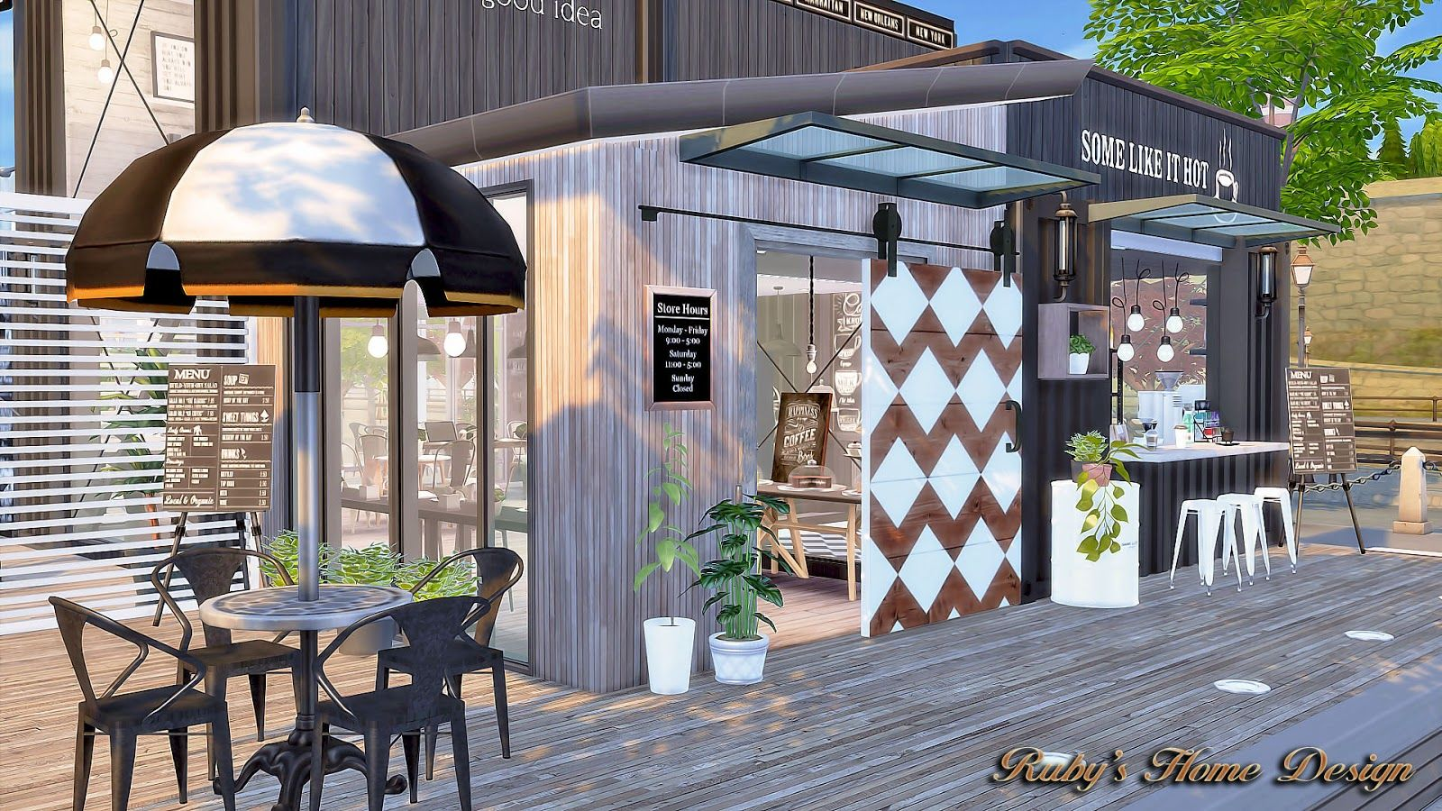 Ruby S Home Design Sims4 Container Coffee Shop Container Coffee