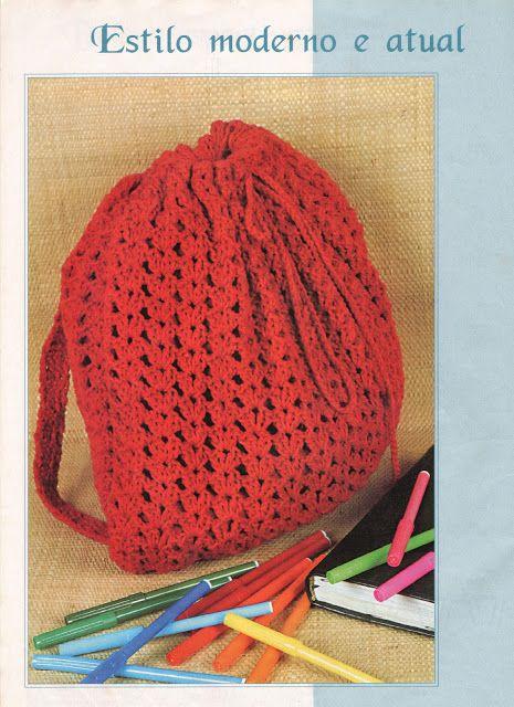 Mochila de crochê | tejidos | Mochila de crochê, Mochila