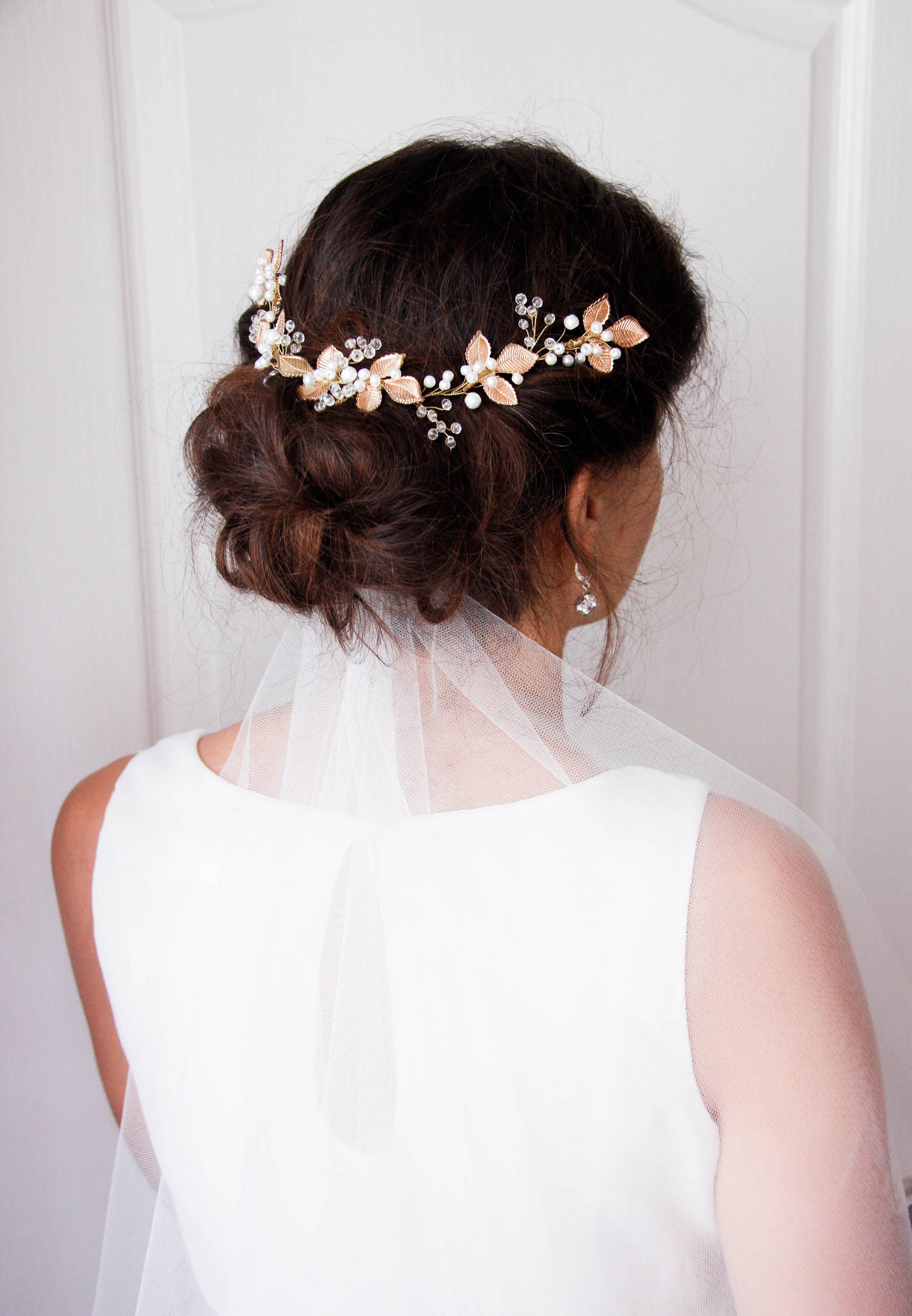 Bridal Head Piece, Leaf halo, Gold leaf headband,Wedding tiara ...