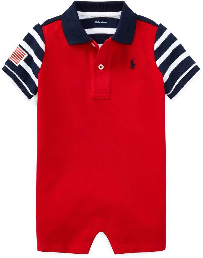9c4950663 Ralph Lauren Americana Cotton Polo Shortall. Ralph Lauren Americana Cotton  Polo Shortall Ralph Lauren Kids, 18 Months, Baby Boy Outfits