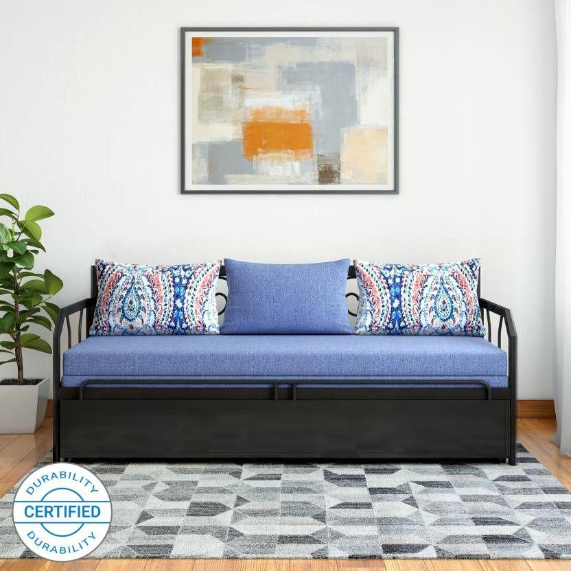Fine Furniturekraft Caen Double Metal Engineered Wood Sofa Bed Machost Co Dining Chair Design Ideas Machostcouk
