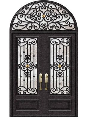 Hand Crafted 12 Gauge Wrought Iron Doors By Monarch Custom Doors 72 X 108 Ebay Iron Front Door Wrought Iron Front Door Iron Entry Doors