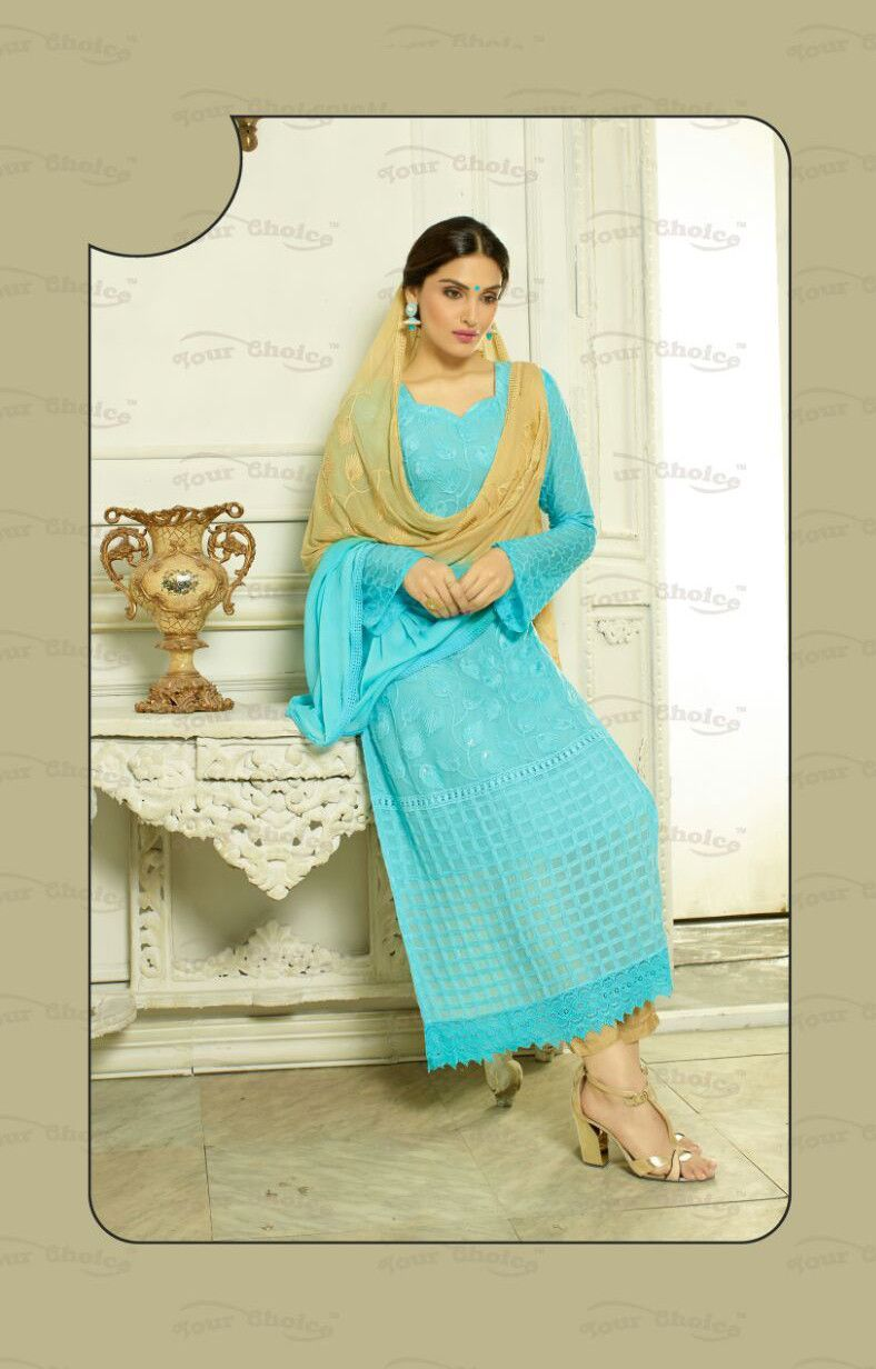 Designer Embroidery Long Salwar Suit Collection - Ready To Stitch ...