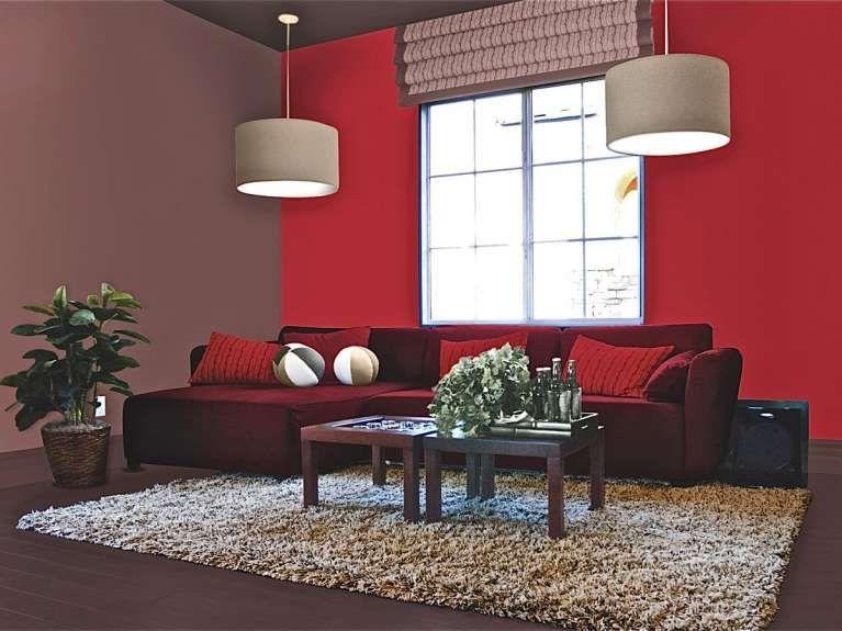 Colori giusti per imbiancare la casa idea di decorazione for Parete rossa soggiorno