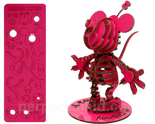 Minnie Mouse Pink 3D Cardboard Puzzle Figure #minniemouse #mickeysgirl #disneypuzzle