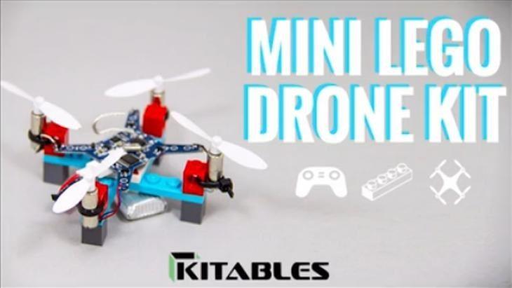 Lanzan kit de construcción de mini drones con piezas de Lego