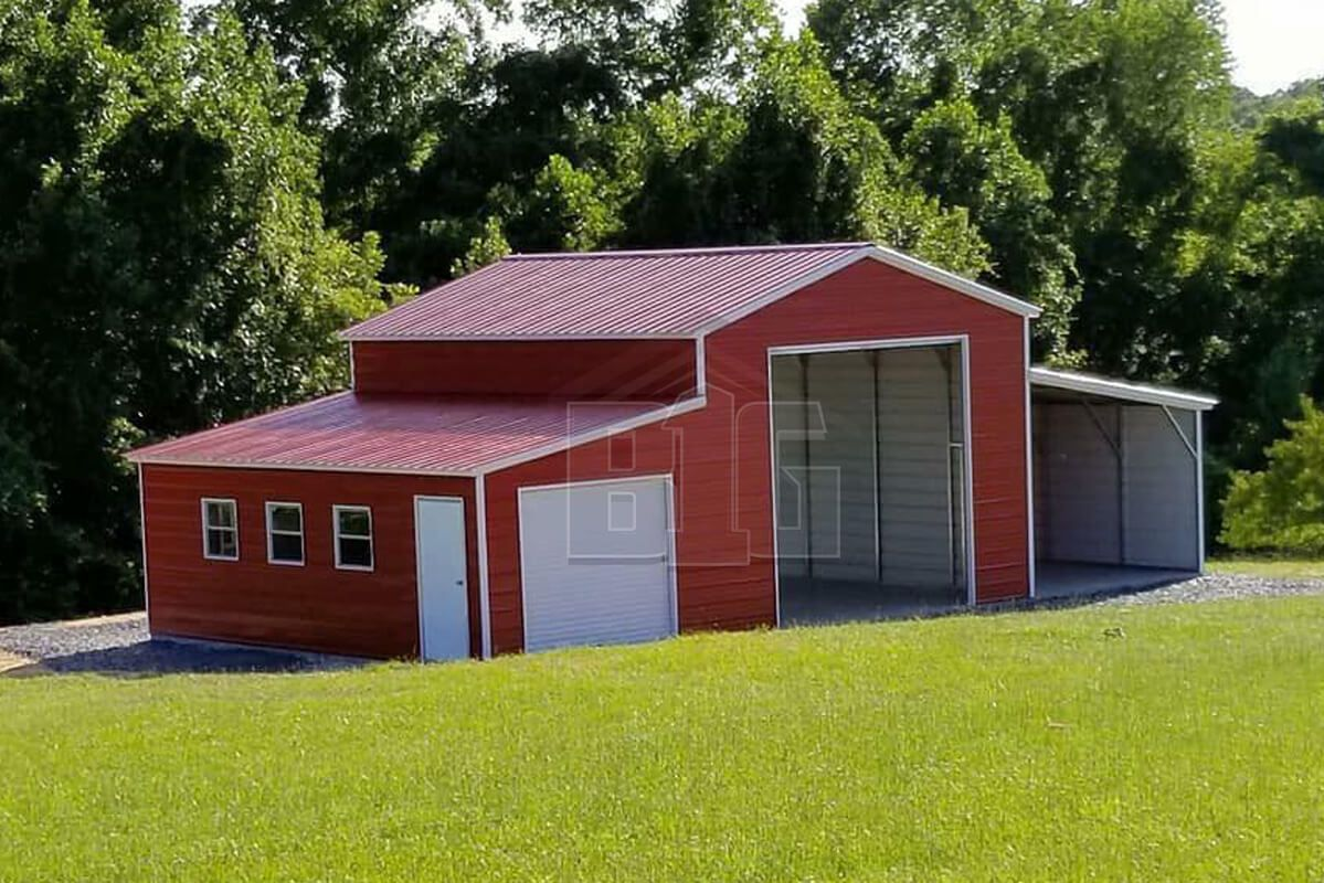 The Lily 36x30x12 8 Big Buildings Direct Garage Door Design Metal Barn Shed